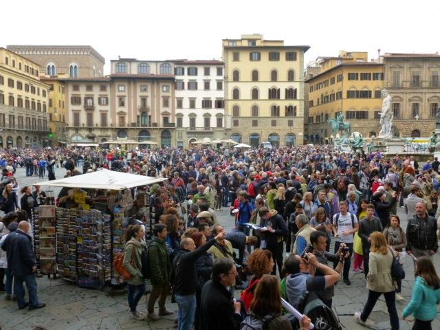 Toerisme in Florence: hollen of stilstaan